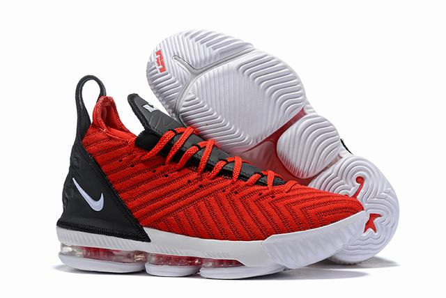 Nike Lebron James 16 Air Cushion Shoes Red Black White